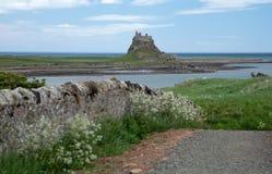 Holy Island. Beautiful Lindisfarne Castle situated on the Holy Island of Lindisfarne, Northumberland, United Kingdom Stock Photo