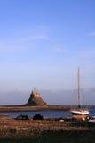 Holy island castle stock photo