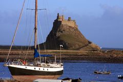 Holy island castle Royalty Free Stock Images