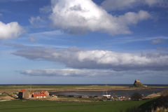 Holy Island  castle Northumberland England Stock Photo
