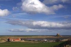 Holy Island  castle Northumberland England Stock Photo
