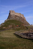 Holy Island  castle Northumberland England Royalty Free Stock Photography