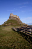 Holy Island  castle Northumberland England Royalty Free Stock Photo