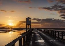 Holy Island, Causeway. Safety Shelter. Northumberland. England.UK Royalty Free Stock Images
