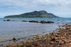 Holy Island from Lamlash Bay. Stock Photo