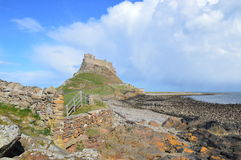 Holy Island Lindesfarne. Holy Island Castle. Photo taken April 2015 Royalty Free Stock Images
