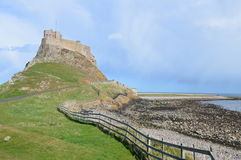 Holy Island Lindesfarne. Holy Island Castle. Photo taken April 2015 Stock Photo