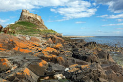 Holy Island of Lindisfarne Royalty Free Stock Photo