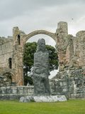 Holy Island Priory stock image