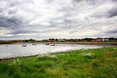 Holy Island seashore, UK Royalty Free Stock Images