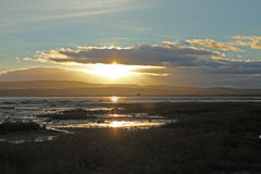 Holy Island at sunset Royalty Free Stock Image