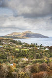 Holy Isle from Arran in Scotland. Holy Isle view from the Isle of Arran in Scotland Royalty Free Stock Image