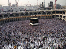 The Holy Kaaba, Makkah, Saudi Arabia. The Holy Kaaba is a building at the center of Islam`s most sacred mosque, Al-Masjid al-Haram, in Makkah, al-Hejaz, Saudi Stock Images