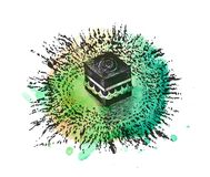 Holy Kaaba in Mecca Saudi Arabia, Hand Drawn Sketch Vector. Illustration Stock Photos