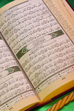 Holy Koran - Islam - Religion. The Koran (Quran) is the Islamic sacred book, believed to be the word of God as dictated to Muhammad by the archangel Gabriel and Stock Photography