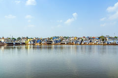 Holy lake in Pushkar, India Royalty Free Stock Image