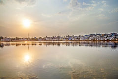 Holy lake in Pushkar, India Stock Photo
