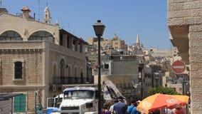Holy Land. Bethlehem. Palestinian National Authority stock video