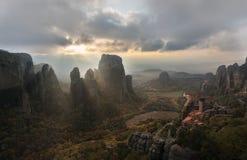 Holy land of Meteora Royalty Free Stock Image