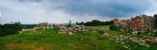 Holy land Series - ancient Othoman ruins, Hirbat Burgin Stock Photography