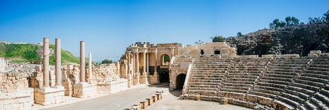 Holy land Series - Beit Shean ruins#3 Royalty Free Stock Images
