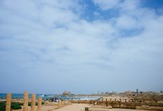 Holy land Series - Caesarea Port 4 Royalty Free Stock Photo