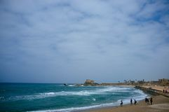 Holy land Series - Caesarea Port 6 Stock Photos