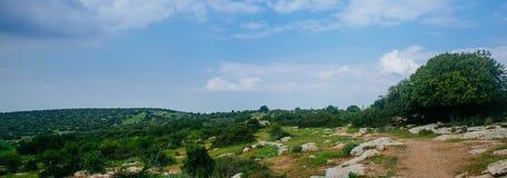Holy land Series - Hirbat Burgin panorama 3 Royalty Free Stock Images