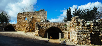 Holy land Series -Yehi`am Fortress National Park 3 Royalty Free Stock Photos
