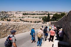 Holy Land Tourists Royalty Free Stock Image