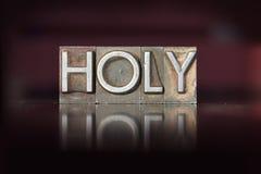 Holy Letterpress Stock Photo