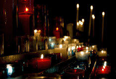 Holy Light Prayer Candles Royalty Free Stock Photos