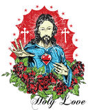 Holy love. Religious vector format Stock Photo