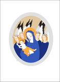 Holy madonna. Vector illustration of holy madonna Stock Image