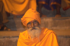 Holy man in Benaras Stock Images