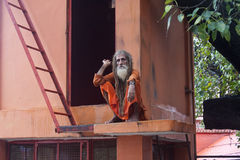 Holy man in India Royalty Free Stock Photo