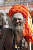 Holy man at Kumbh Mela 2013 Royalty Free Stock Image