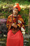 Holy man in Nepal Stock Photo