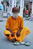 Holy man in Nepal Stock Images