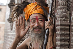 Holy Man in Nepal Royalty Free Stock Photo