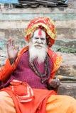 Holy Man posing at Varanasi on India Royalty Free Stock Photo