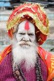 Holy Man posing at Varanasi on India Stock Image