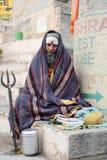 Holy Man posing at Varanasi on India Royalty Free Stock Photography