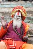 Holy Man posing at Varanasi on India Royalty Free Stock Image