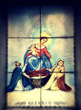 Holy Mary. Icon painted on tiles, Italy Stock Images