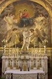 Holy mary altar from Paris church royalty free stock photo
