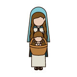 holy mary and baby jesus design Royalty Free Stock Image