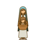 holy mary and baby jesus design Royalty Free Stock Photography