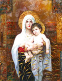 Holy Mary and Child. Icon in Rome, Italy Royalty Free Stock Photo
