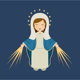 Holy Mary design Royalty Free Stock Photography